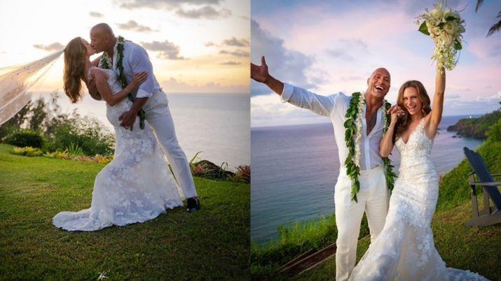 Dwayne-Johnson-And-Lauren-Hashian's-Marriage-Pics