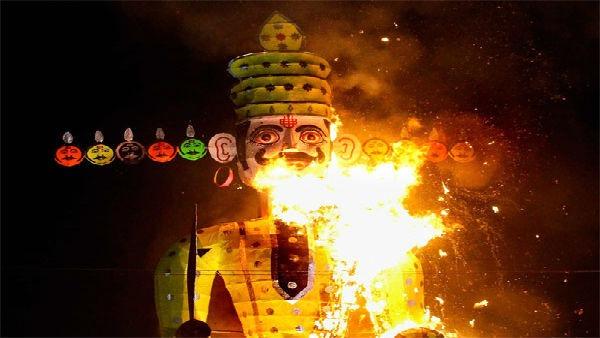 Ravana-Effigy-Went-Into-Flames-While-Setting-In-Vidhsha-MP