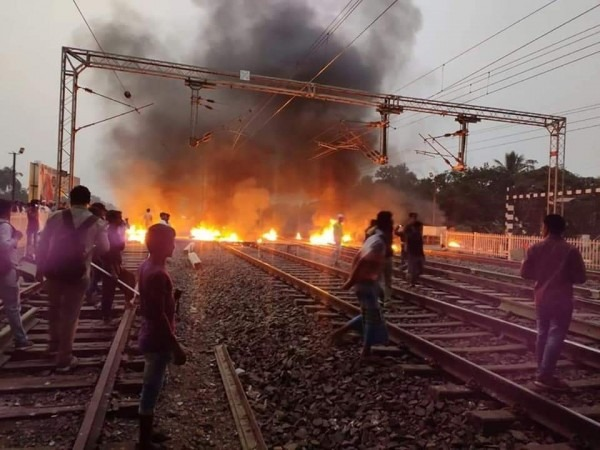 CAB-Protests-Become-Violent-With-Protestors-Setting-A-Railway-Station-On-Fire