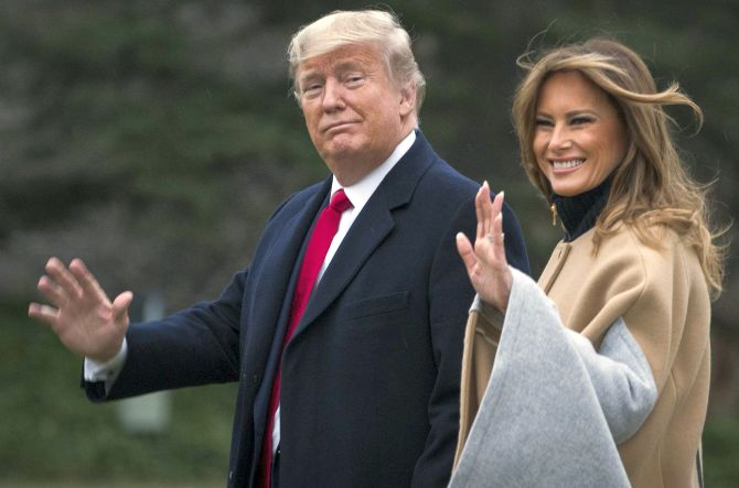 President Trump And First Lady Melania Depart White House For Florida