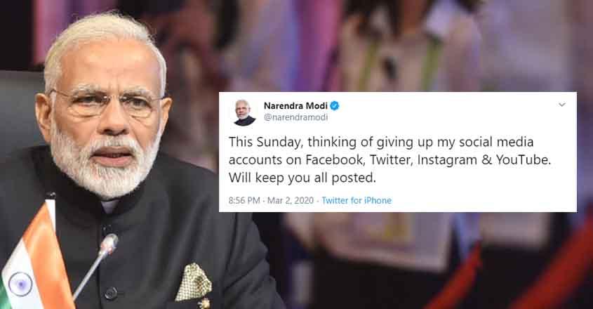 Narendra Modi Could Quit Social Media