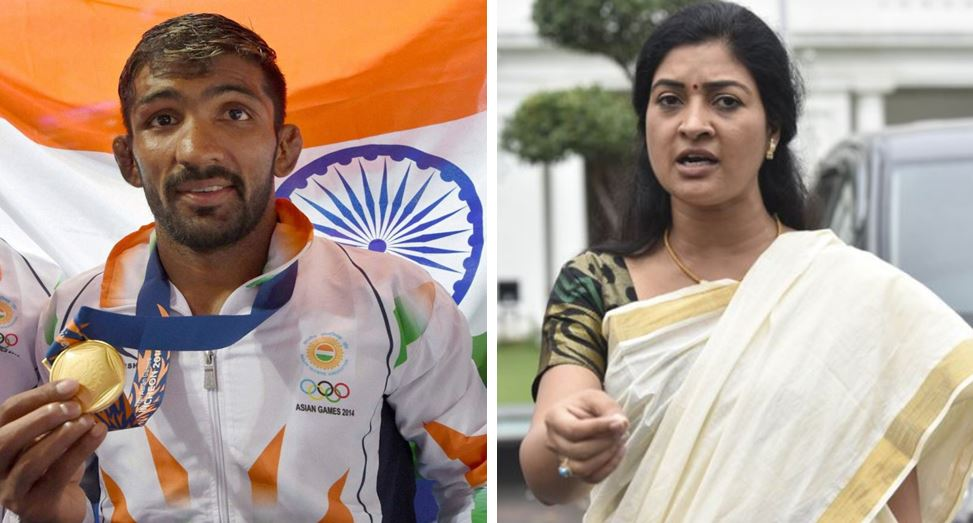 Alka-Lamba-And-Wrestler-Yogeshwar-Dutt